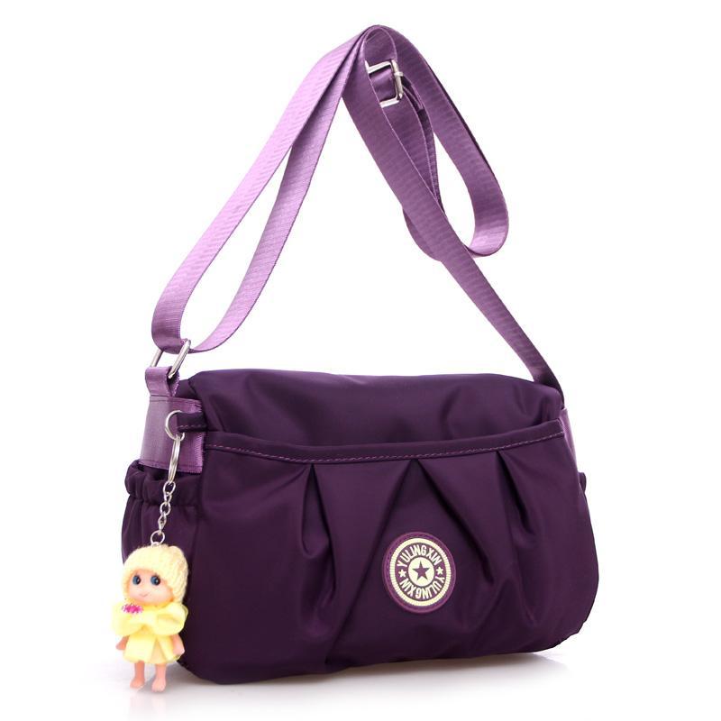 Cute Candy Color Women Messenger Bag Hobos Nylon Bag 2017 Women Crossbody  Brand Designer Shoulder Cross Body With Doll Vintage Handbags Black Purses  From ... 65ff406bacd6c
