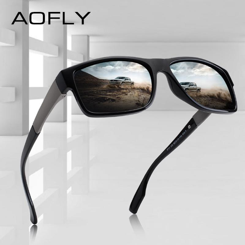 38c4b5a46 Compre AOFLY MARCA DESIGN TR90 Quadro Óculos De Sol Dos Homens Polarizados  UV400 Lente Eyewear Masculino Condução Óculos De Sol Oculos AF8102 De  Haydena, ...