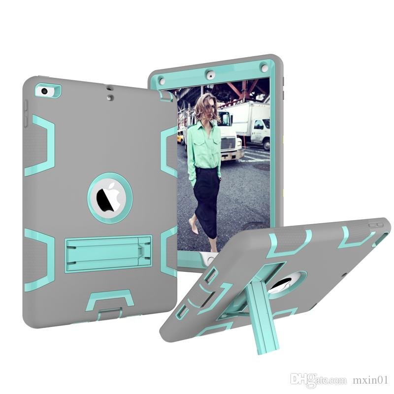 3 1 Hibrid Robot Ağır Duty Case İçin Yeni iPad 9.7 Mini 3 4 5 Air 10.5 Pro 11 Samsung T380 T387 P580 T820 T595 T830 T510 T720 P200 Standı