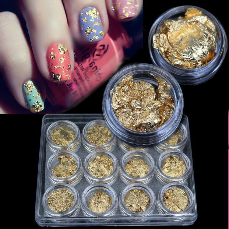 Fashionable Luxury Gold Foil Phototherapy Nail Polish Diy 12 Nail ...