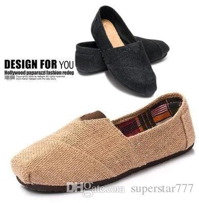 5dfec3bcd31 Linen Multi Casual Fashion Women Men Shoes Flat Platform Lazy ...