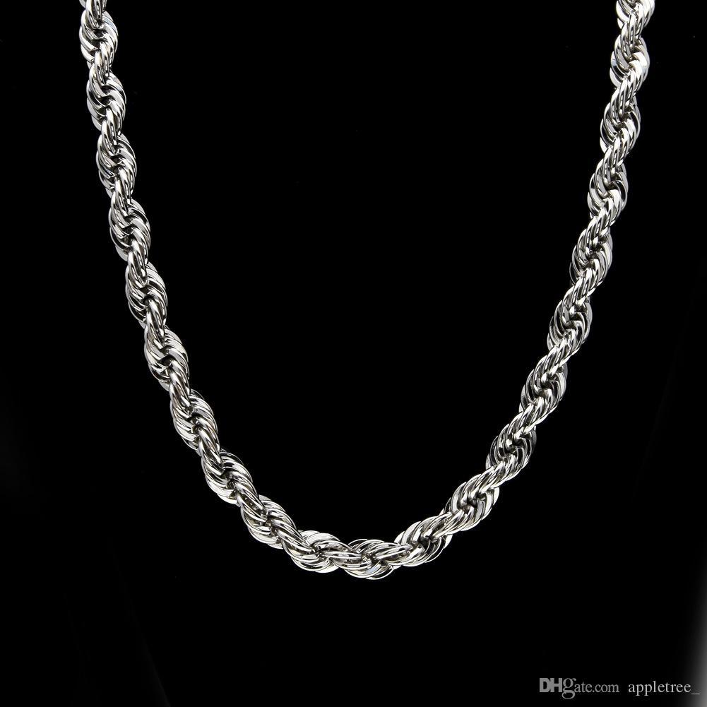 10mm starke 78cm lange Hip Hop Goldkette Seil verdrehte Ketten für Männer Gold überzogene schwere Halsketten-Halsketten Luxusschmucksachezusätze