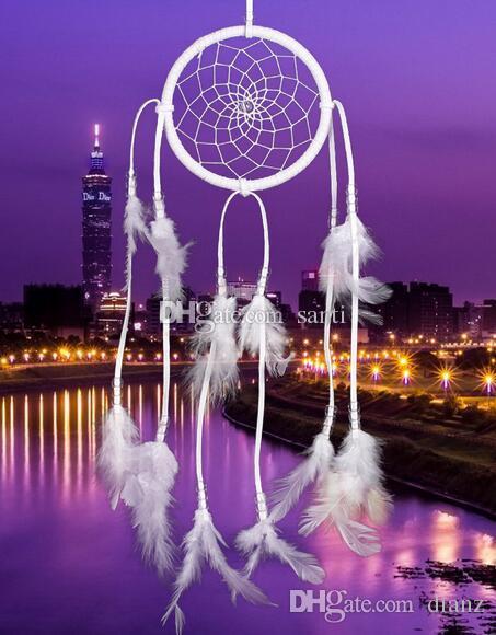 Großhandel Neue 40cm Handgemachte Indische Dream Catcher Net Mit Magnificent Dream Catcher Pic
