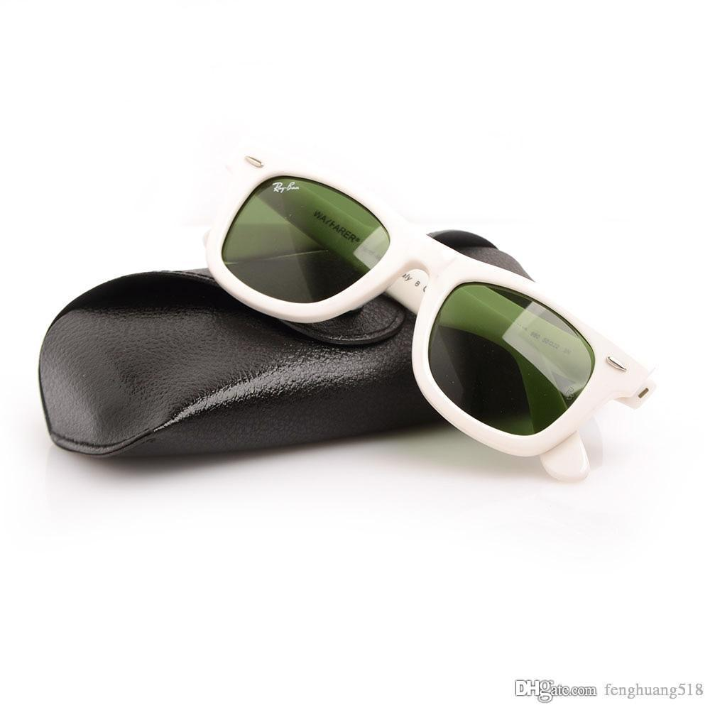 6ad1182e297 High Quality Plank Sunglasses White Frame Green Lens Sun Glasses Metal  Hinge Sunglasses Men Sunglasses Women Glasses 2140 Unisex Sun Glasses Mens  Eyeglasses ...