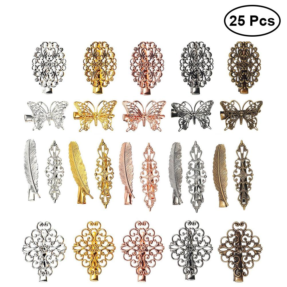 25pcs Vintage Hair Clips Leaf Flower Hair Barrettes Pins for Ladies and Girls clip women pin C18110901