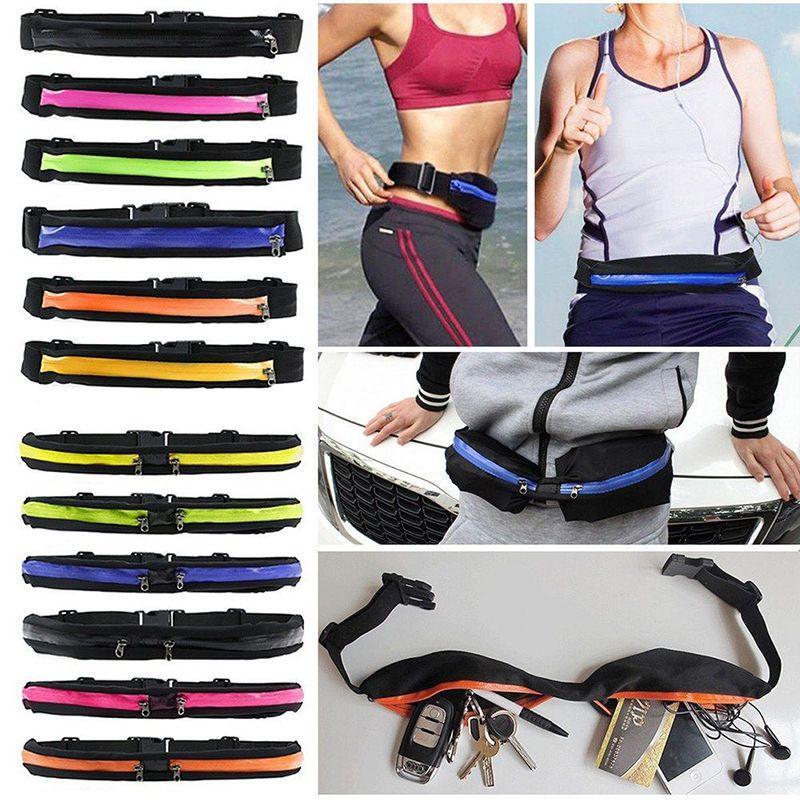 Sport Running Waist Bag Jogging Gym Mobile Phone Bag Sports Outdoor Waterproof Nylon Personal Pocket Phone Hand Bag Relojes Y Joyas