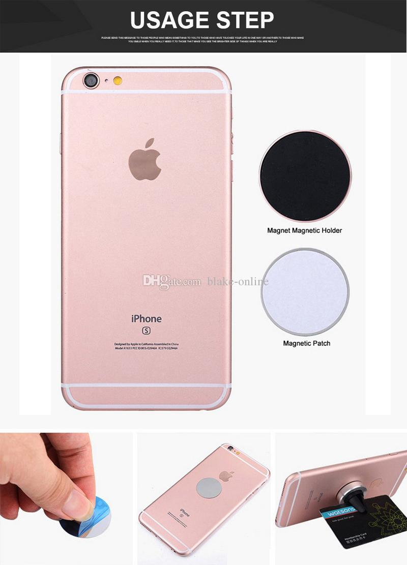Universal Car Air Vent Cellphone Holder Magnetic Stand Mounting Holder for iPhone x 6s 7 plus Samsung