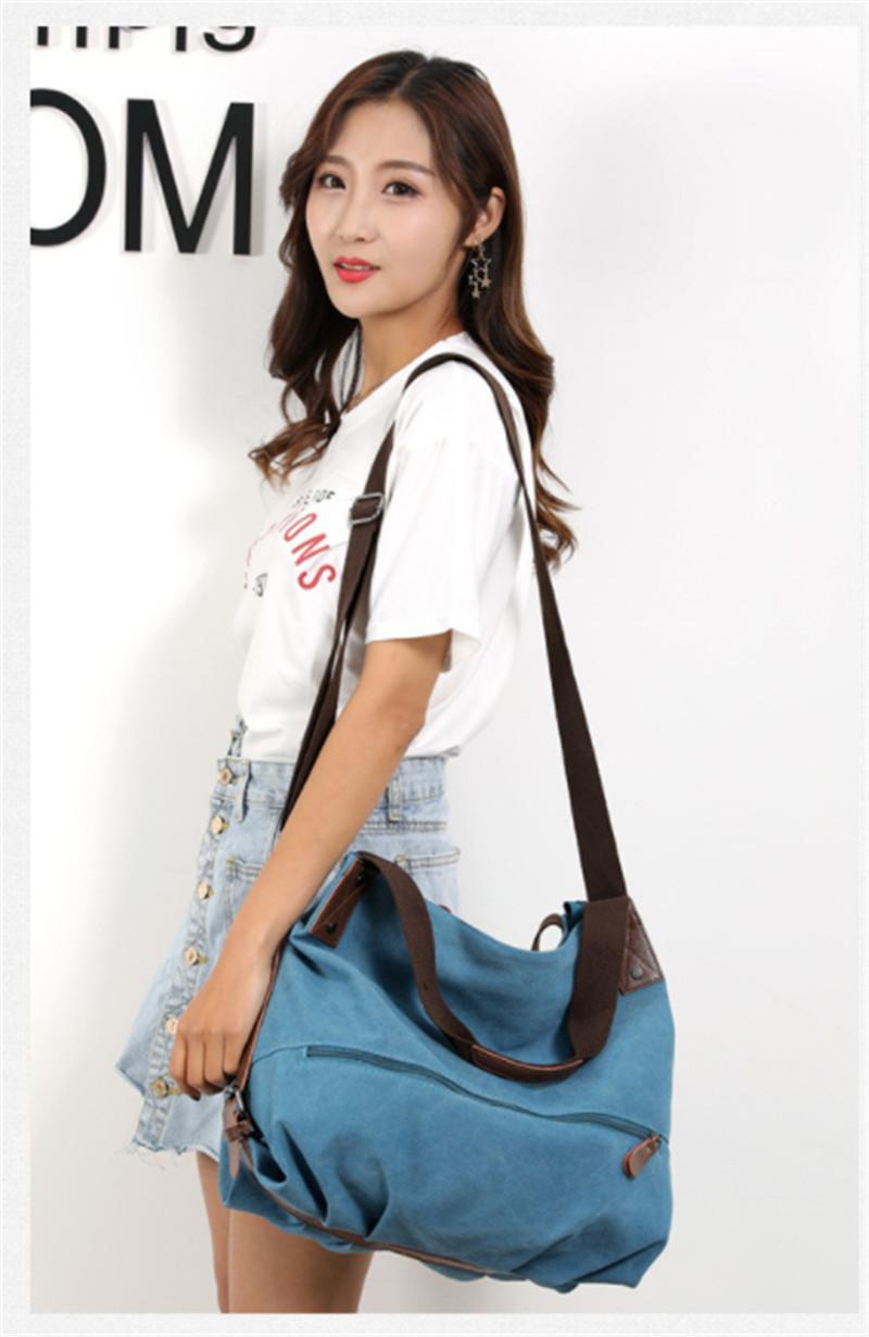 62b45ca53301 New Arrival Canvas Bag Woman Fashion Handbag Leisure Shoulder Bag Large  Capacity Female Bag Cross Body Black Handbag Fashion Bags From Sweetfish97