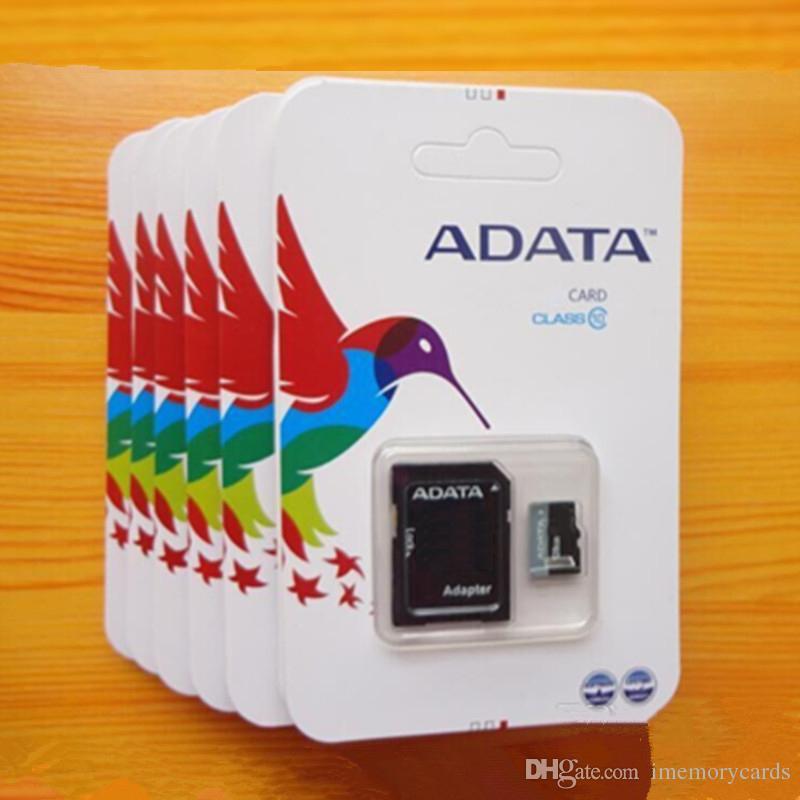 ADATA 80MB / S 90MB / S 32GB 64GB 128GB 256GB C10 TF 플래시 메모리 카드 프리 패키지 소매 블리스 터 패키지 Epacket DHL 무료 배송