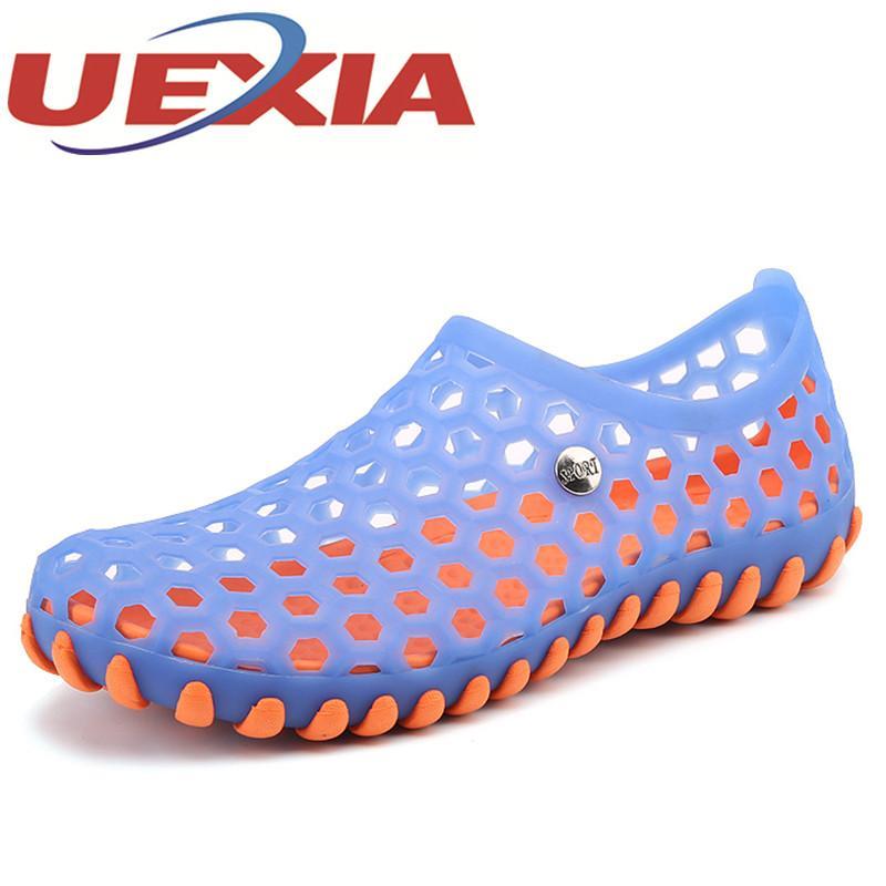 f50337848f008 Acheter Plus La Taille 45 Été Hommes Occasionnels Sandales En Plastique  Sandales De Mode Chaussures Respirantes En Plein Air Plage Chaussures D eau  Glissent ...