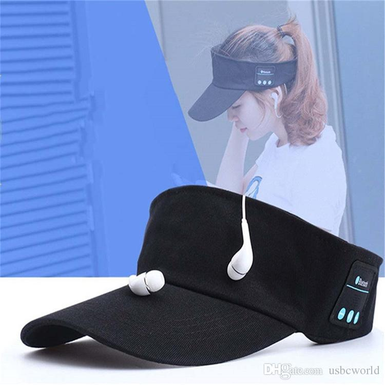 Wireless Sun Cap Bluetooth Earphones Baseball Sun Hat Music Headset Handsfree With Microphone For Most Phones Sports Adult Size