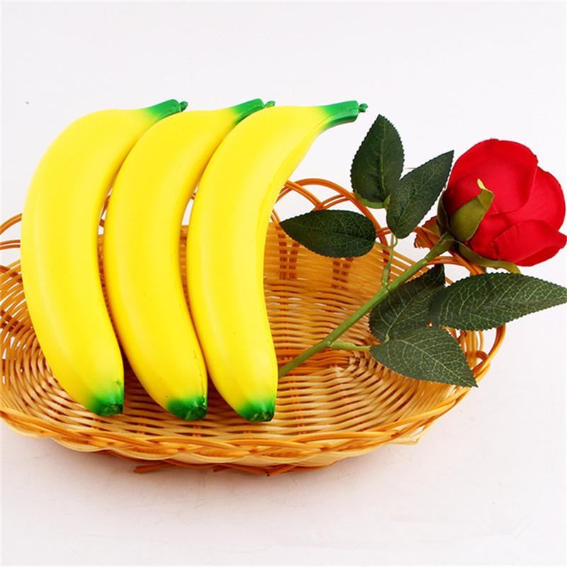 The cute 10cm Banana Slow Rising Squishy Fruit Cute Jumbo Squishies Simulate Phone Straps Pendant Squeeze Stress Stretch Kids Toy Gift