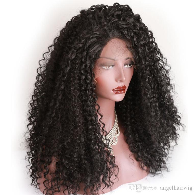 Afro Kinkys Wig Cheap Synthetic Long Kinky Curly Wigs For Black Women African  American Female Wig Heat Resistant Fiber Lace Front Wig Hair Wig Synthetic  ... 18f46a407e0c