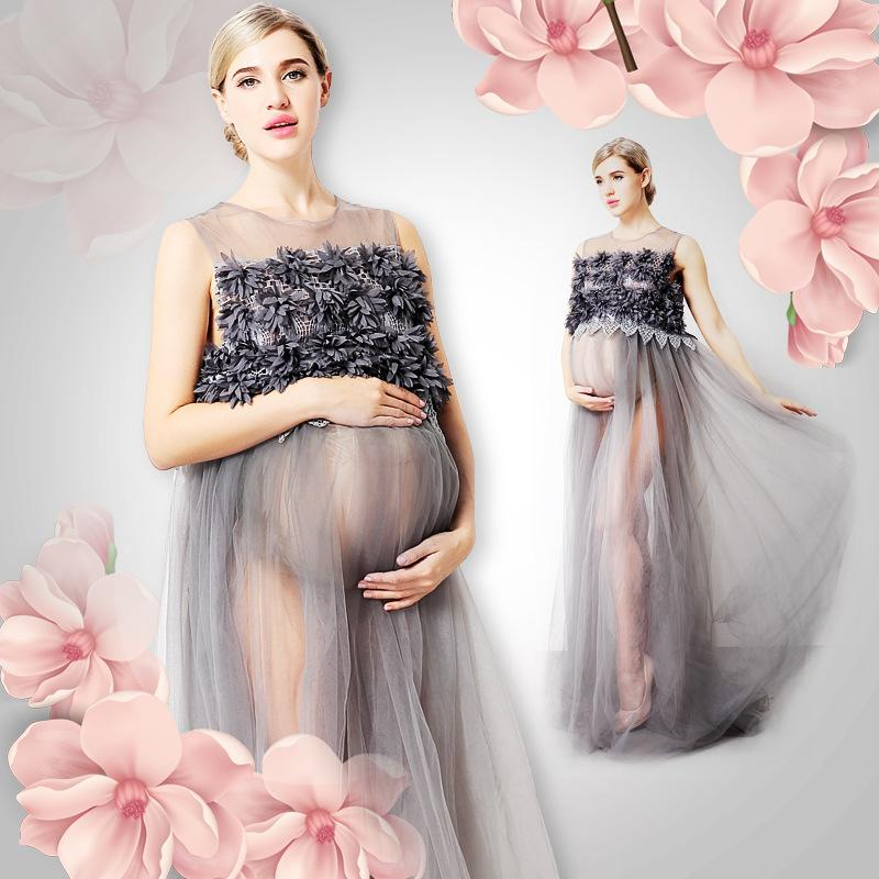 89999516ca 2019 Maternity Gown Photography Props Maternity Dress Pregnant Women Clothe  New Mom Long Floor Length Dresses Embroidered Flowers Mothers Day From  Yunrao