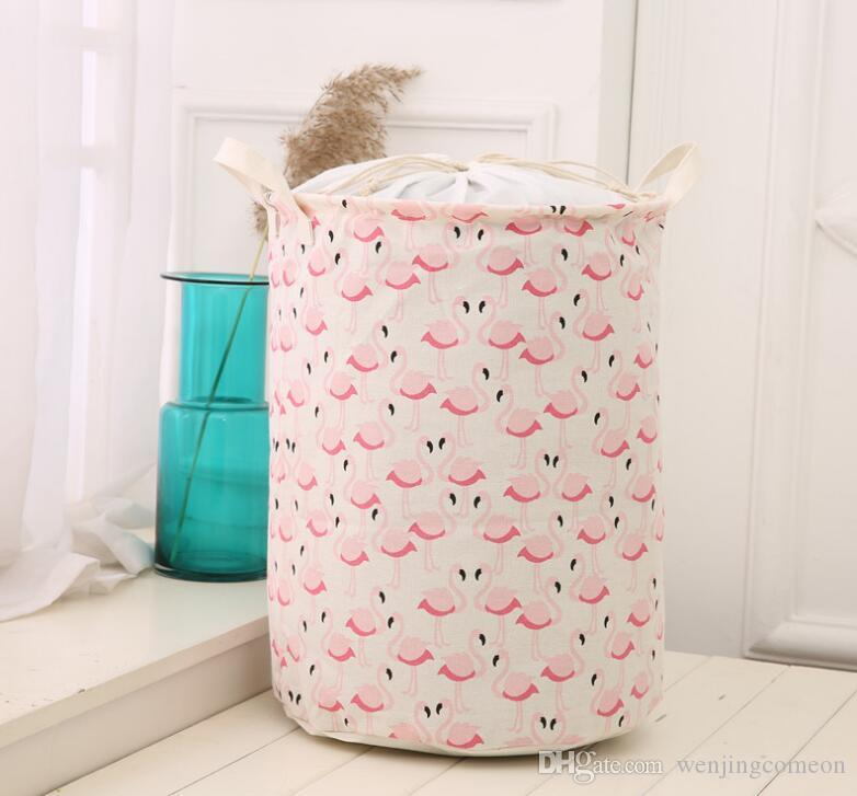 New waterproof dirty barrel folding toy creative clothes basket bra necktie socks storage box bag bins organizer laundry basket