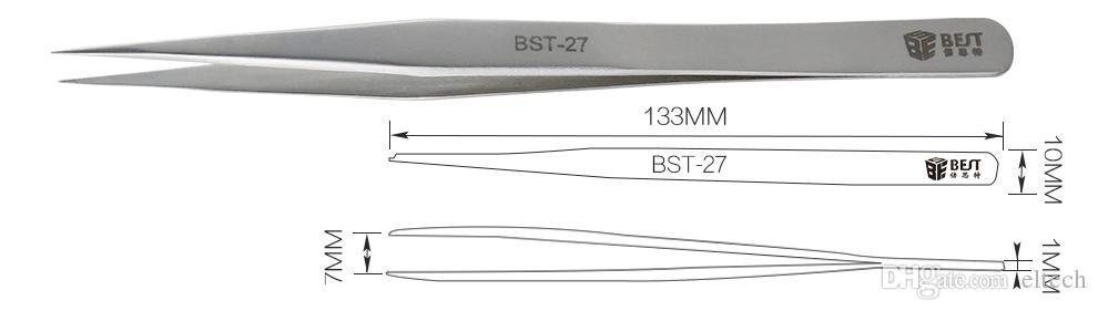 أداة اليد المعدنية كماشة مستقيم ESD الملقط