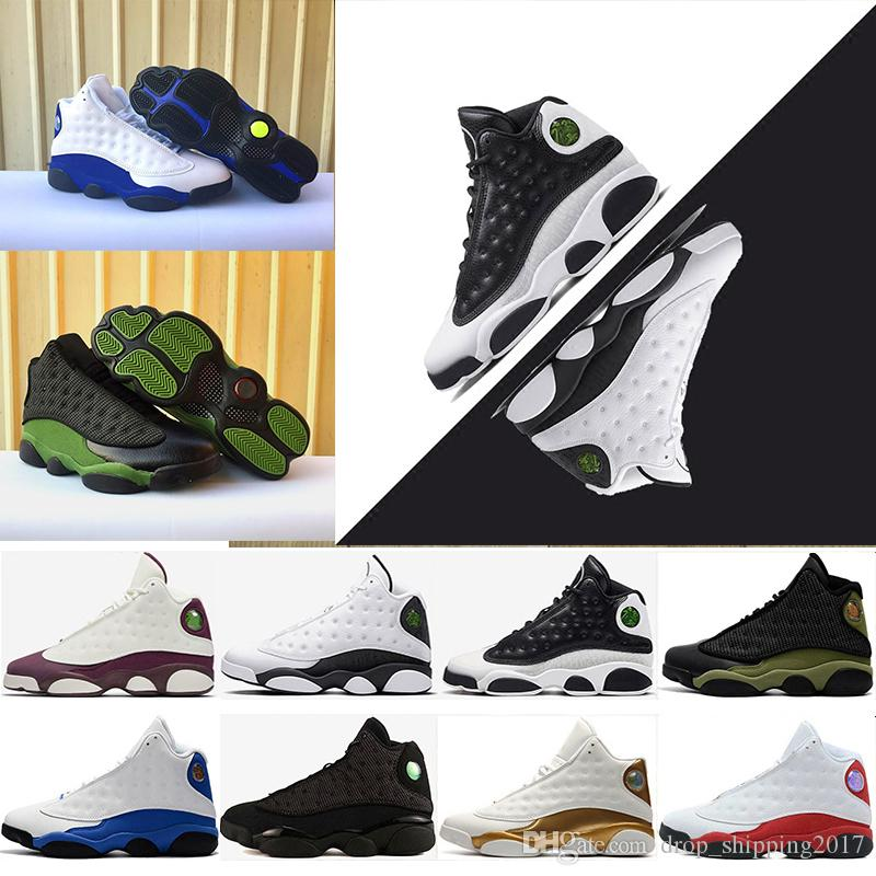 a56468fed7efcd 13 XIII Mens Basketball Shoes Of High Bred Black Brown White Flints Grey  Wholesale High Quality Sports Sneakers Size 8 13 Sneakers Shoes Shoes For  Men From ...