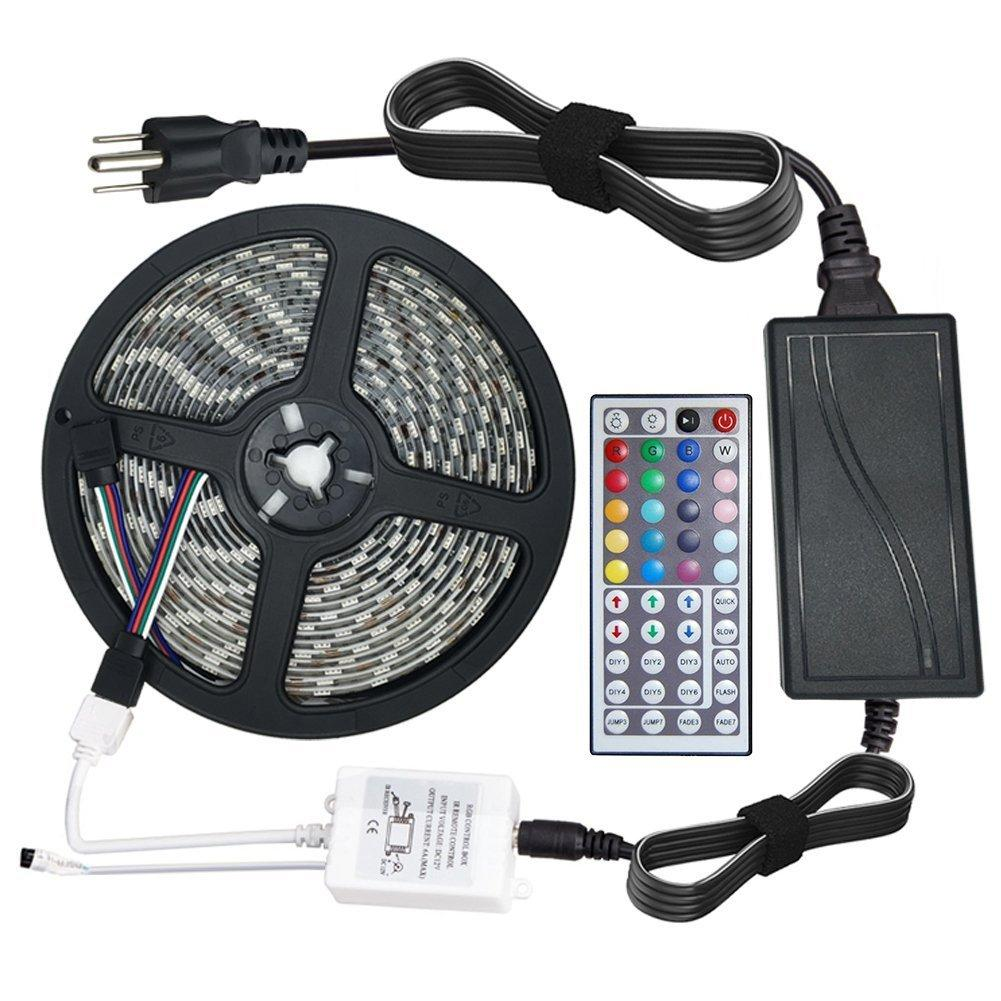 Dhl Waterproof Strips Ip65 5m 300 Leds 5050 Rgb Led 60 Ul Listed Strip Lights By The Foot Per Reel Remote Controller 12v 5a Power Supply Light