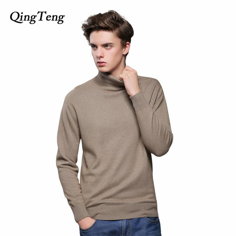 0a218fe255 Maglione da uomo in cashmere nero a collo alto giacca da uomo con collo  alto in lana lavorato a maglia di grandi dimensioni Jersey tmall fornitore  ...