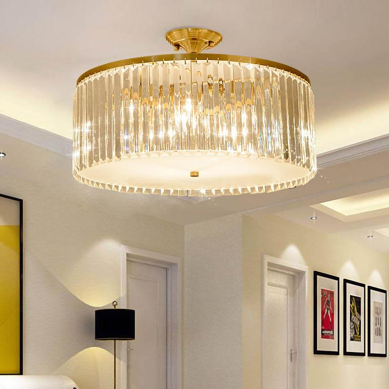2019 Bedroom Lamp Ceiling Lamp Light Luxury Crystal Simple Modern Round  Room Light Home Garden Porch Home LED Fixture From Kirke, $463.46    DHgate.Com