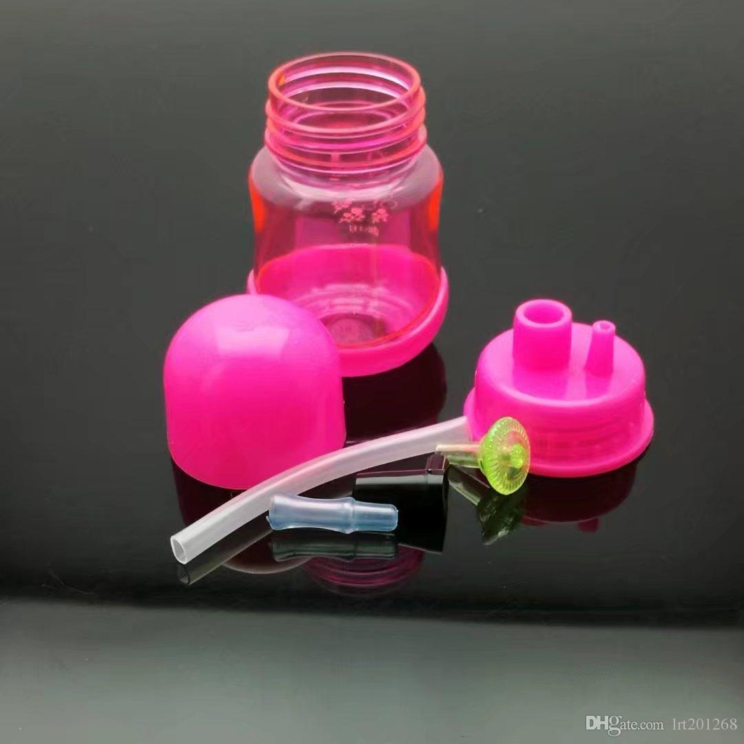 Pote de garrafa de plástico colorido Bongos de vidro atacado Queimador de óleo Tubos de vidro Tubos de água Óleo de tubo de vidro