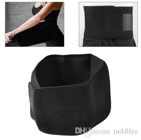 Fashion Black Waist Slimming Belt Shapewear Men Sweat Band Body Shaper Wrap Weight Loss Burn Fat Exercise Bodysuit Men Underwear