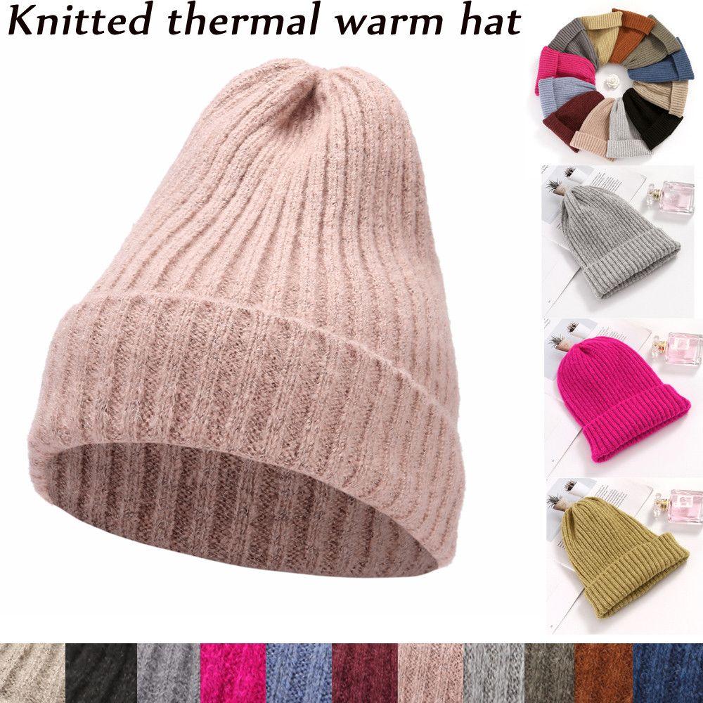 Women Autumn Winter Beanie Hat Knitting Wool Warm Hats Earmuffs Hat Cool  Warm And Mature Cute Skullies   Beanies Cheap Skullies   Beanies Women  Autumn ... 69da175295b
