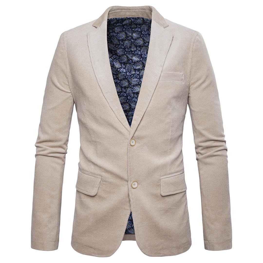 3fe4e93a99f77 Acquista Blazer Di Velluto A Coste In Cotone Da Uomo Autunno Primavera  Giacca Da Giacca Da Uomo Slim Fit In Stile Maschile Plus Size Giacca Di  Velluto A ...