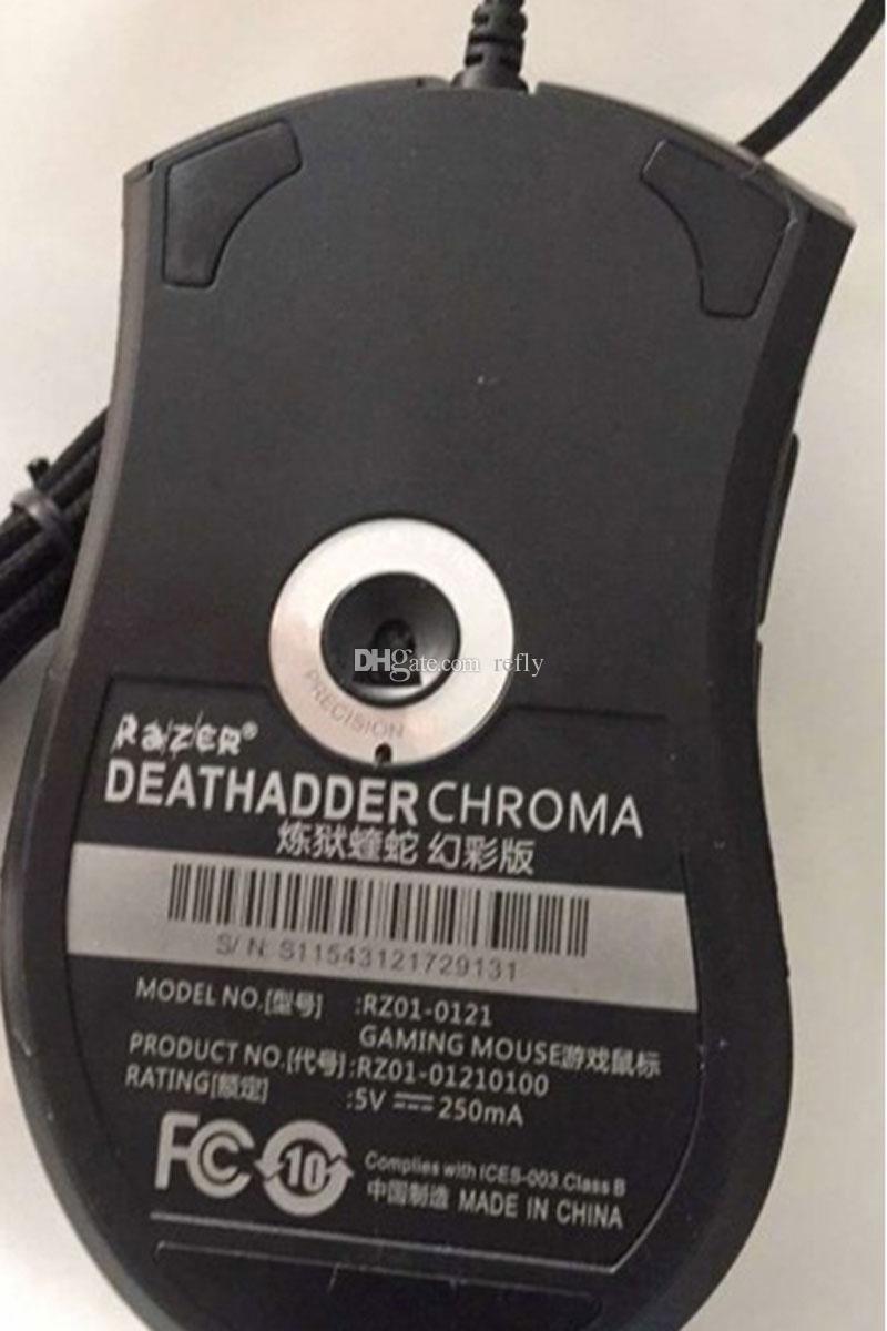 الماسح Deathadder كروما USB السلكية الماوس 10000 ديسيبل متوحد الخواص الضوئية الكمبيوتر الألعاب الاستشعار الفأر الماسح Deathadder الألعاب الفئران