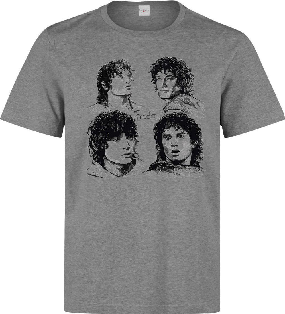 3a7ab92b47d466 Großhandel T Shirt Neue Marke Herr Der Ringe Frodo LotR Hobbit Kunst Männer  Frau Verfügbar Graues T Shirt T Shirt Sommer T Stücke Von Teesir, $10.67  Auf De.