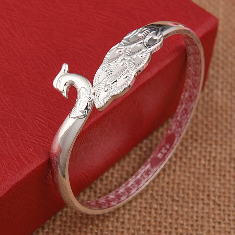 Beautiful Peacock Bird Bracelets Bangles For Women Chinese