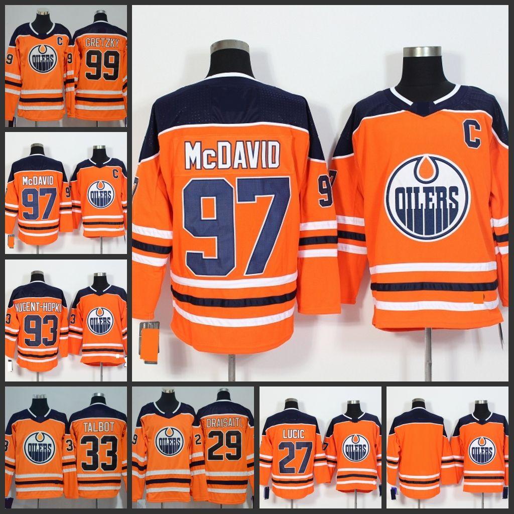 56464bd4e ... 2018 edmonton oilers mens 2018 orange jerseys 97 connor mcdavid 99  wayne gretzky 29 leon draisaitl