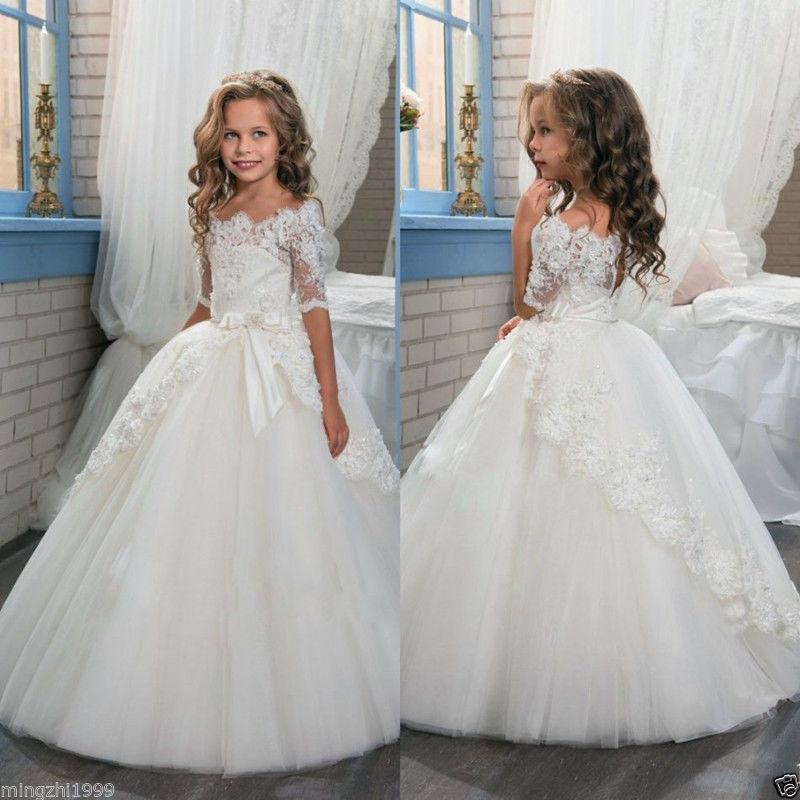 Royal Communion Party Prom Princess Pageant Bridesmaid Wedding Flower Girl Dress