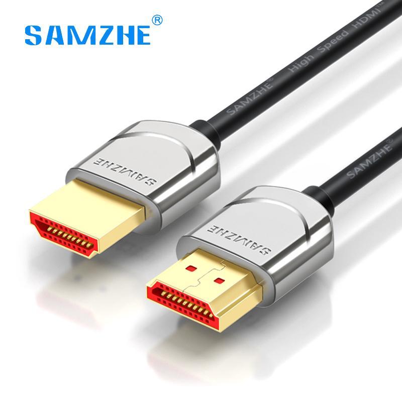 2018 Samzhe Hdmi 2.0 Cable Soft Thin Hdmi To 4k*2k Uhd 3d 0.5m 1m ...