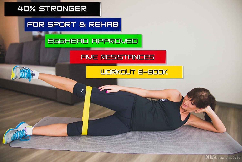 2018 جديد 500 * 50 * 0.5 ملليمتر اللاتكس كمال الأجسام اللياقة البدنية ممارسة عالية التوتر العضلات الرئيسية الصالة الرياضية للتدريب الساق الوزن الوزن
