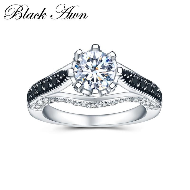 2b5a70f5745e1 BLACK AWN Wedding Rings for Women 925 Sterling Silver Fine Jewelry ...