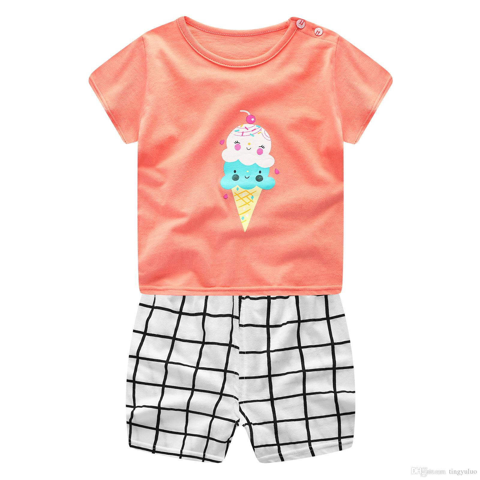 2018 Plaid Baby Boy Clothes Summer 2018 New Born Baby Boy Clothes ...