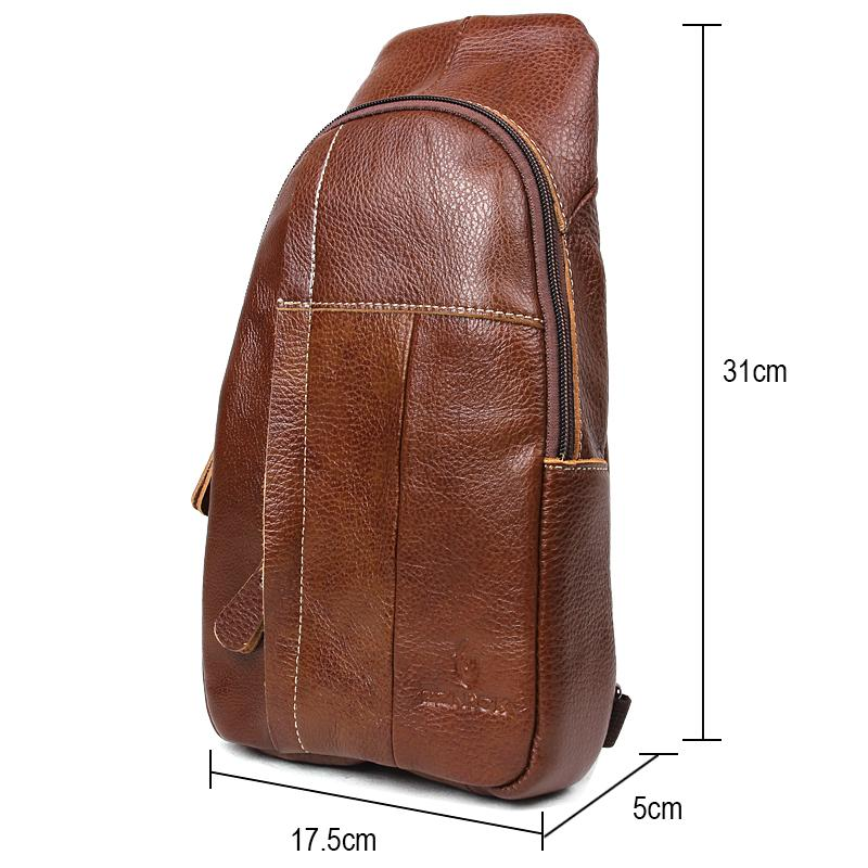 Hot sale Genuine Leather Men Bag Men Messenger Bags Small Waist Pack Leather Shoulder Crossbody Bag brown Belt Waist Bags