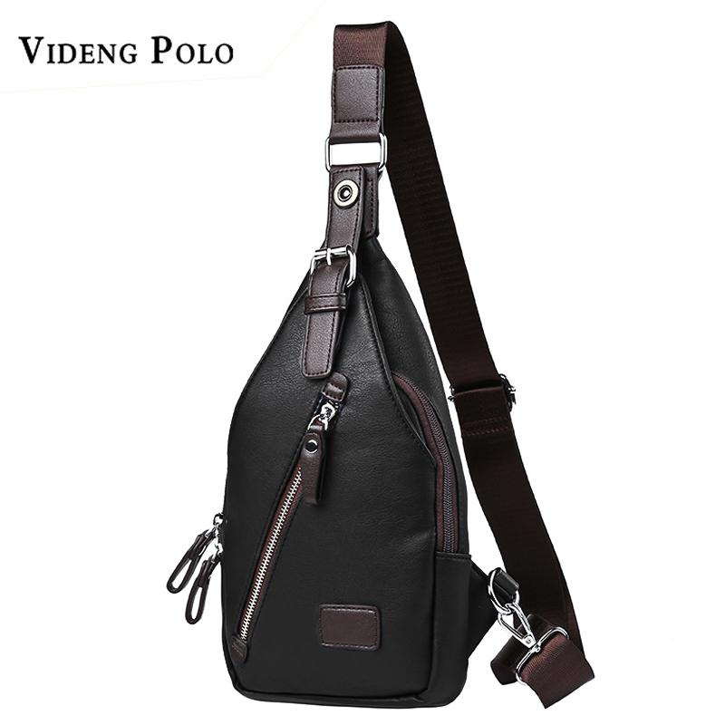 VIDENG Men Bag Leather Casual Chest Bag Fashion Crossbody Shoulder Famous  Brand High Quality Messenger Bags Male Bolsos Kavu Rope Bags Travel Handbags  From ... 00c1581e6a428