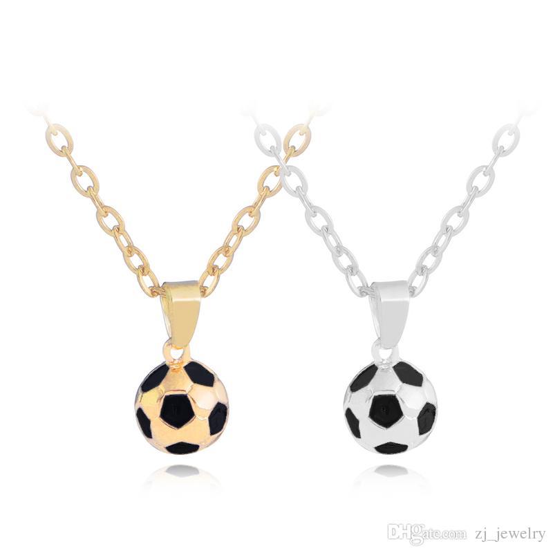 Colar de futebol de Futebol Bola de Futebol Charme Pingentes Colares  Personalizado Equipe de Esportes de Futebol Presente Do Jogador de Jóias  para Meninas ... de6f8d6251869