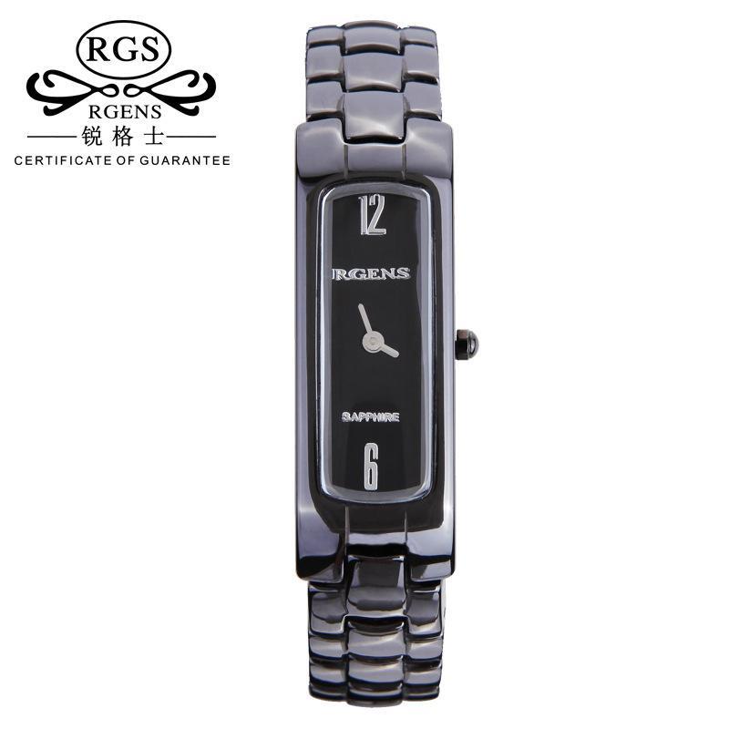 f97719e57c3 Compre Original Das Mulheres De Cerâmica Relógios De Quartzo De Luxo  Quadrado Feminino Relógios Casuais 30 M À Prova D  água Senhoras Relógios  De Pulso ...