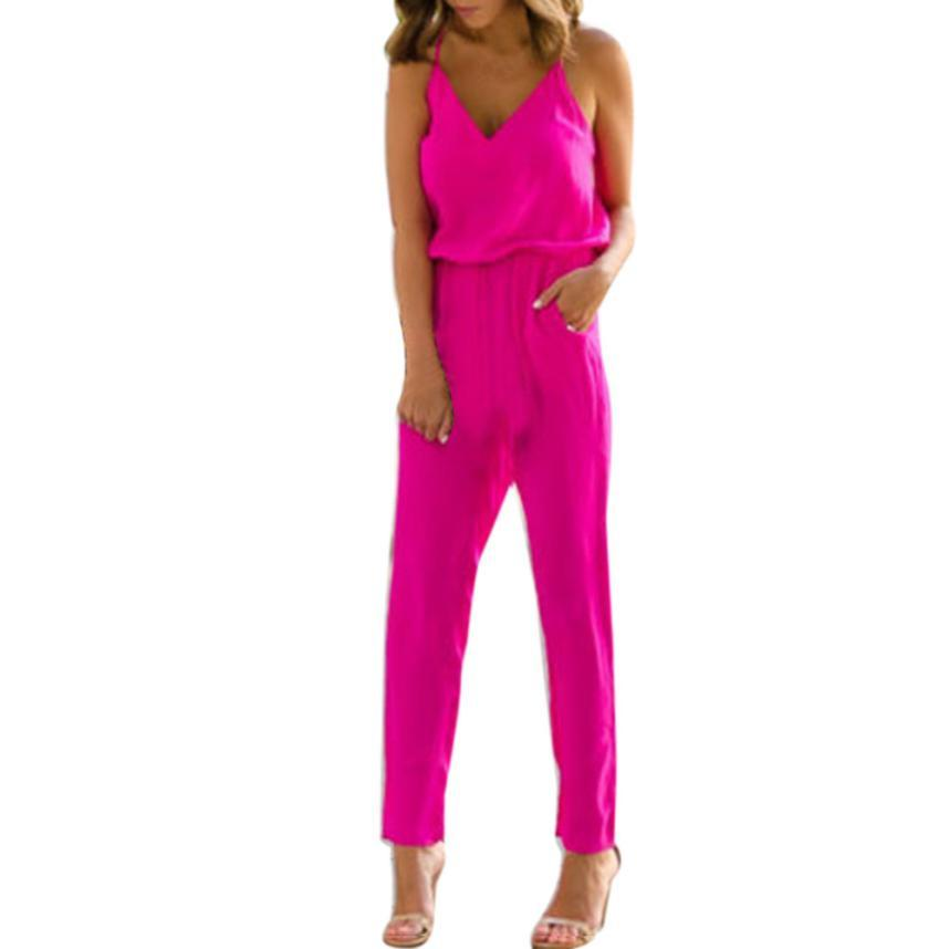 f6131a25c1a KANCOOLD Jumpsuit Playsuit Fashion Women s Overalls for Women ...