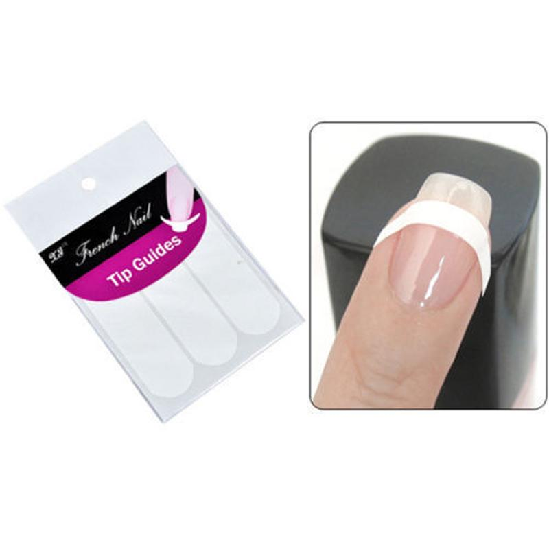 Newest 100% Brand French Manicure Strip Nail Art Form Fringe Guides ...