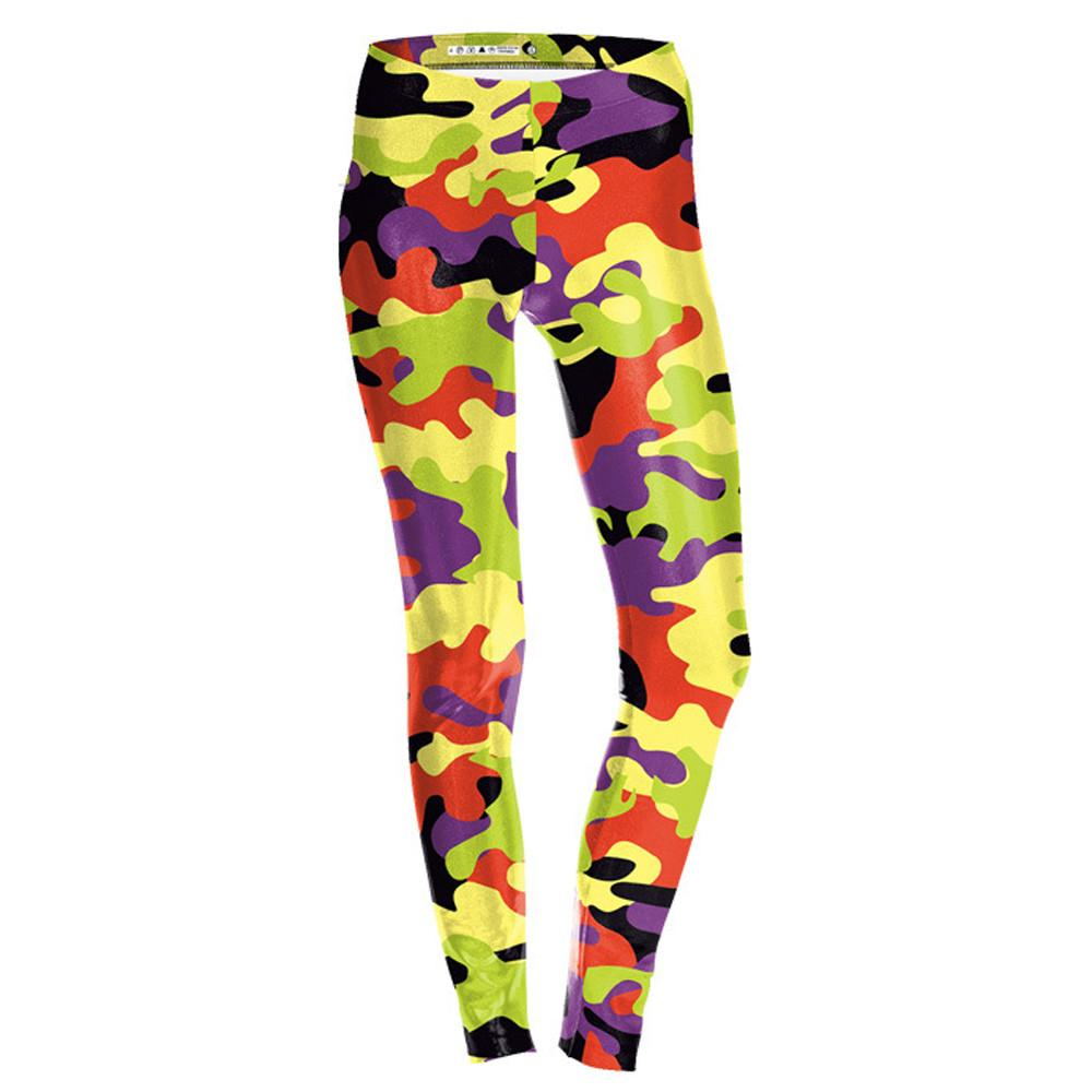 Women Digital Camouflage Print Sports Running Pants Stretch Leggings Pants Athletic Trouser Sexy Skinny Athletic Yoga