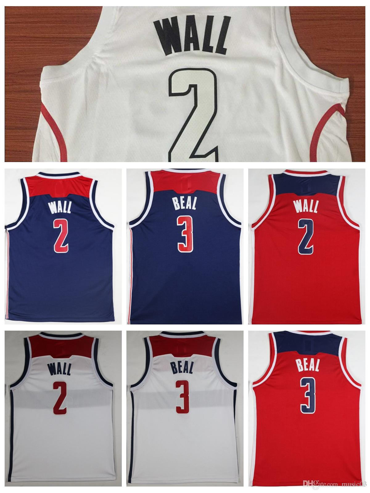 222a8a08c64 ... reduced top men 2018 newest washington wizards jerseys 2 john wall 3 bradley  beal jerseys white