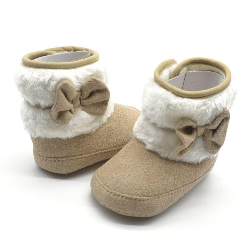 Baby Winter Knit Fleece Boots Toddler Girl Wool Snow Crib Shoes Booties