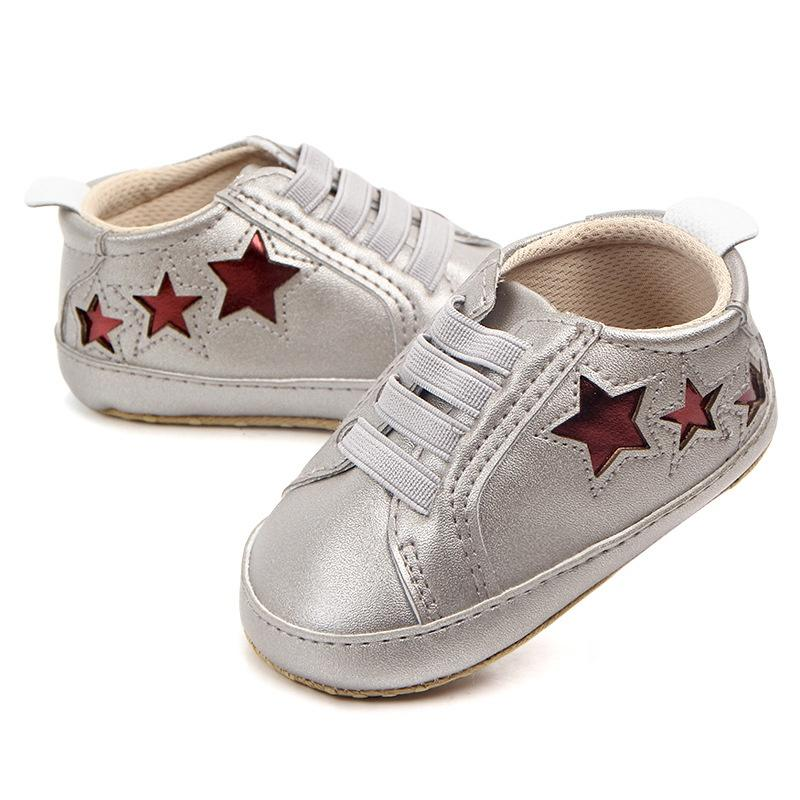 66e345521 2019 Baby Boy Shoes Born Doll Accessories Fashion Five Pointed Star Leather  Casual Doll Shoes First Walker 0 12M Baby Moccasins From Cover3129, ...