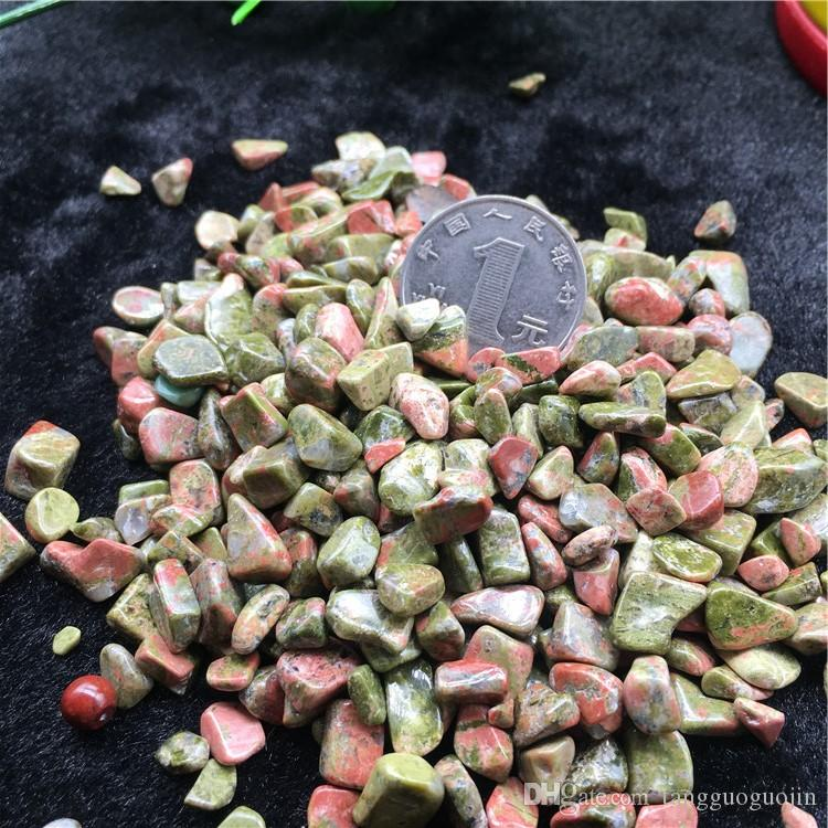 wholesale 50g Natura Flowers green treasure Crystal Stone Rock Chips Specimen Lucky crystal love natural stones and minerals Fish Tank stone