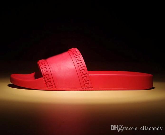 590a1ff4244e33 Hot Sale Sandals Medusa Scuffs Brand Men Summer Huaraches Flip Flops  Slippers Black Red Loafers Beach Slides New Arrival Designer Sandals  Walking Sandals ...