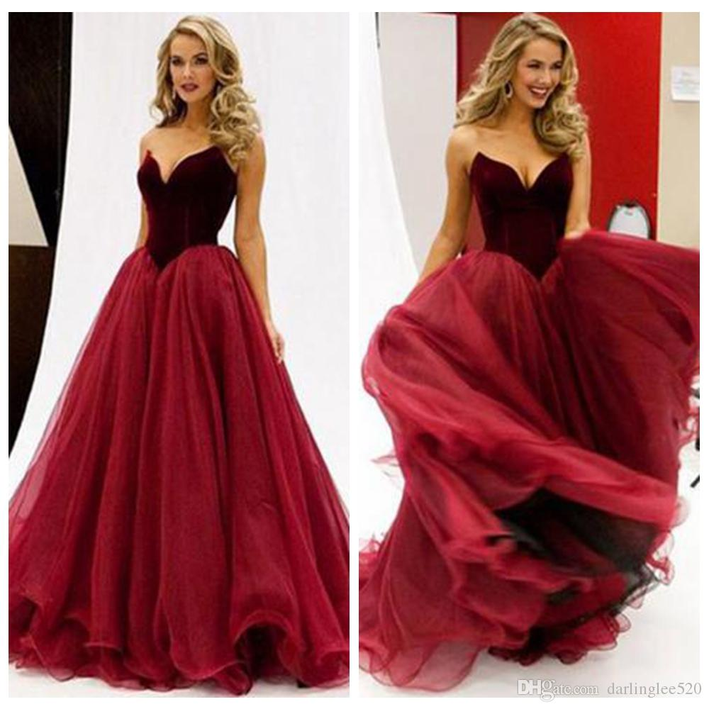 43d932ba02375 Sexy Prom Evening Dress A Line Organza Tulle Floor Length Sweetheart Ruched  Burgundy Party Vestidos De Maid Of Honor Dress Evening Gowns Petite Prom  Dresses ...